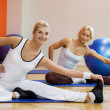 Doing stretching exercise - Stock Photo