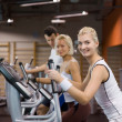 Group of jogging in a gym — Stock Photo #2086920