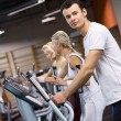 Group of jogging in a gym — Stock Photo #2086928