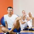 Group of relaxing after fitness — Stock Photo