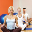 Group of doing yoga exercise — Stock Photo #2086965
