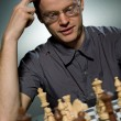 Thoughtful chess master — Stok Fotoğraf #2087045