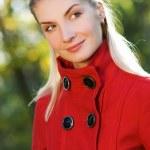 Beautiful young woman outdoors — Stock Photo