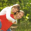 Young couple in love outdoors — Stock Photo #2087269