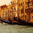 Venice gandolas — Stock Photo
