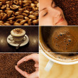 Coffee collage - Stok fotoraf