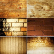 Grunge texture set - Stock Photo