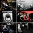 sport auto interni collage — Foto Stock