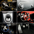 Sport car interior collage — Stock Photo #2087567