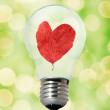 Environment friendly bulb — Stock Photo