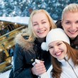 Stock Photo: Women in winter clothing outdoors