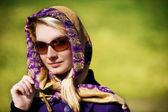 Beautiful woman close-up portrait — Stock Photo