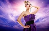 Beautiful woman glamour potrait — Stock Photo