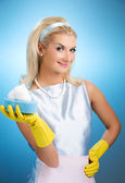 Beautiful happy housewife — Stock Photo
