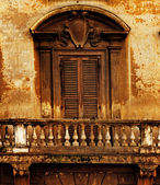 Vintage window and balcony — Stock Photo