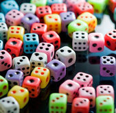 Colorful dices background — Stock Photo