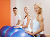 Doing fitness exercise — Stock Photo