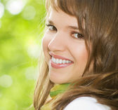 Beautiful romantic brunette portrait — Stock Photo