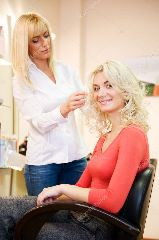 Young woman in beauty salon  Stock Photo #2082849