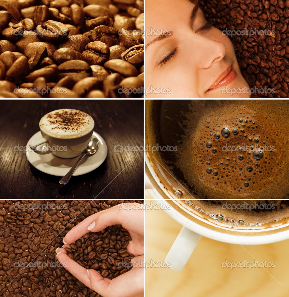 Coffee collage — Stok fotoğraf #2087380