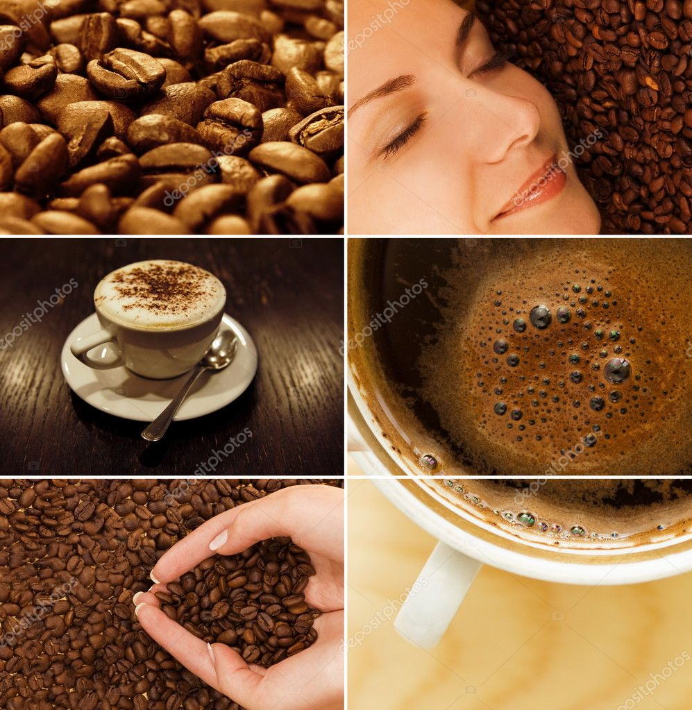 Coffee collage — Stockfoto #2087380