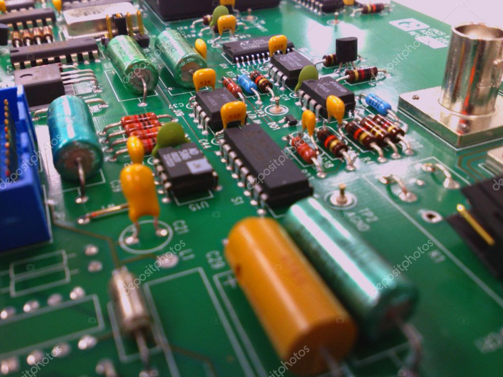Electronic circuit board   Stock Photo #1400130