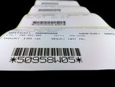Labels with the printed bar codes — Stock Photo