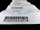 Etiketten met de gedrukte barcodes — Stockfoto