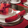 Beautiful holdiay table setting - Stock Photo
