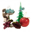 Various christmas ornaments isolated on — Stock Photo #1898886