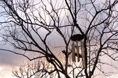 Wind chimes in winter — Stock Photo