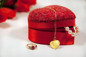 Beautiful gifts for valentine's — Stock Photo