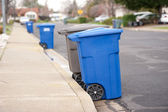 Blue is for recyclables — Stock Photo