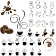 Coffee icons - Vettoriali Stock 