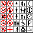 Stock Vector: Toilet icons