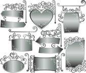 Silver frame — Stock Vector