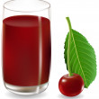 Royalty-Free Stock Vector Image: Cherry juice