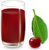 Cherry juice — Stock Vector