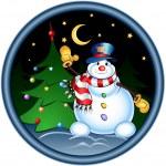 Happy snowman — Stock Vector #2303410