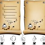 Coffee restaurant menu — Stock Vector