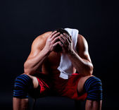 Picture of tired athletic man — Stock Photo