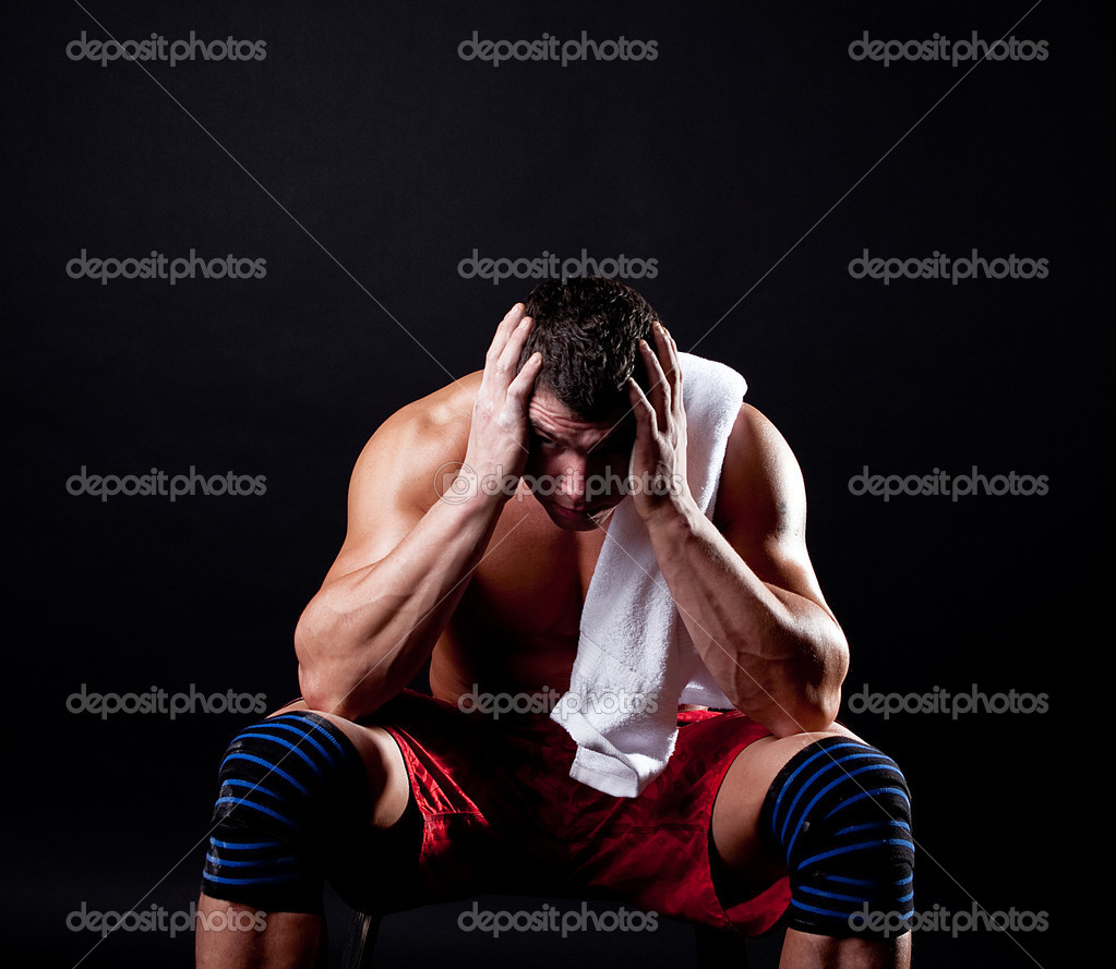 Tired sportsman after training  Stock Photo #1461952