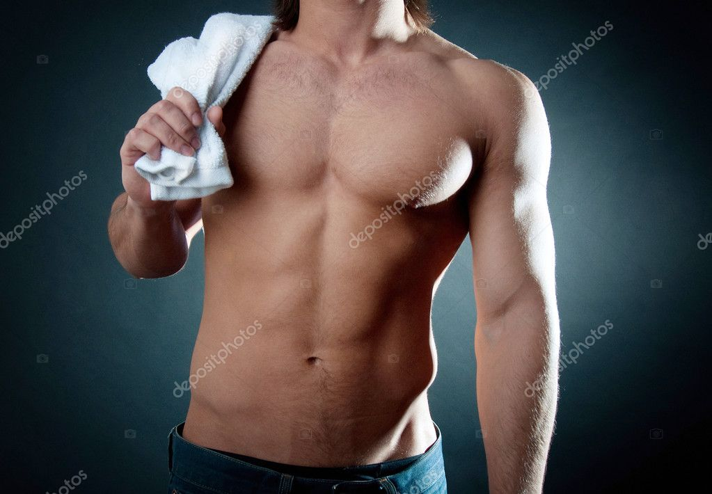 Powerfull mature after the workout — Foto Stock #1925531