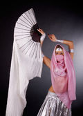 Dancing woman in harem — Stock Photo