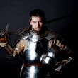 Picture of noble knight — Stock Photo