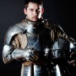 Great warrior with weapons — Stock Photo #1999119