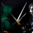 The knight and assassin — Stock Photo