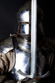Great warrior with sword — Stock Photo