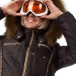 Picture of cute skier - Stock Photo