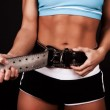 Picture of fasten gym belt — Stock Photo #2397763